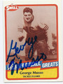 GEORGE MUSSO CHICAGO BEARS AUTOGRAPHED VINTAGE FOOTBALL CARD #60516D