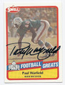 PAUL WARFIELD MIAMI DOLPHINS AUTOGRAPHED VINTAGE FOOTBALL CARD #60616E