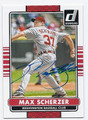 MAX SCHERZER WASHINGTON NATIONALS AUTOGRAPHED BASEBALL CARD #60716A