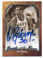 DAVID ROBINSON NAVY MIDSHIPMEN AUTOGRAPHED BASKETBALL CARD #60816C