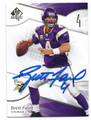 BRETT FAVRE MINNESOTA VIKINGS AUTOGRAPHED FOOTBALL CARD #60916C