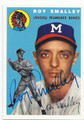 ROY SMALLEY JR MILWAUKEE BRAVES AUTOGRAPHED BASEBALL CARD #61016B