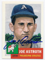 JOE ASTROTH PHILADELPHIA ATHLETICS AUTOGRAPHED BASEBALL CARD #61016E
