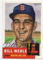 BILL WERLE BOSTON RED SOX AUTOGRAPHED BASEBALL CARD #61116B
