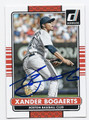 XANDER BOGAERTS BOSTON RED SOX AUTOGRAPHED BASEBALL CARD #61216C
