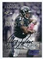 RAY RICE BALTIMORE RAVENS AUTOGRAPHED FOOTBALL CARD #61216D