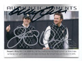 GRAEME McDOWELL & RORY McILROY DOUBLE AUTOGRAPHED GOLF CARD #61216E