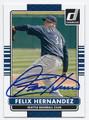 FELIX HERNANDEZ SEATTLE MARINERS AUTOGRAPHED BASEBALL CARD #61516A