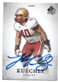LUKE KUECHLY BOSTON COLLEGE EAGLES AUTOGRAPHED ROOKIE FOOTBALL CARD #61516B