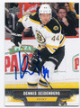 DENNIS SEIDENBERG BOSTON BRUINS AUTOGRAPHED HOCKEY CARD #61616B