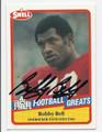 BOBBY BELL KANSAS CITY CHIEFS AUTOGRAPHED VINTAGE FOOTBALL CARD #61616D
