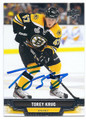 TOREY KRUG BOSTON BRUINS AUTOGRAPHED HOCKEY CARD #61716B