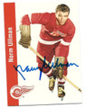 NORM ULLMAN DETROIT RED WINGS AUTOGRAPHED HOCKEY CARD #61716D