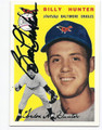 BILLY HUNTER BALTIMORE ORIOLES AUTOGRAPHED BASEBALL CARD #61816C