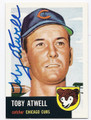 TOBY ATWELL CHICAGO CUBS AUTOGRAPHED BASEBALL CARD #61816E