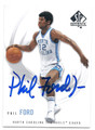 PHIL FORD NORTH CAROLINA TAR HEELS AUTOGRAPHED BASKETBALL CARD #61816F