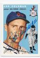 JOE COLEMAN BALTIMORE ORIOLES AUTOGRAPHED BASEBALL CARD #61916A