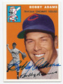 BOBBY ADAMS CINCINNATI REDLEGS AUTOGRAPHED BASEBALL CARD #61916E