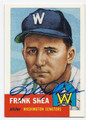 FRANK SHEA WASHINGTON SENATORS AUTOGRAPHED BASEBALL CARD #62316E