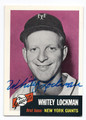 WHITEY LOCKMAN NEW YORK GIANTS AUTOGRAPHED BASEBALL CARD #62416D