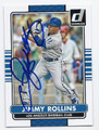 JIMMY ROLLINS LOS ANGELES DODGERS AUTOGRAPHED BASEBALL CARD #62516B