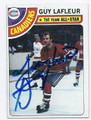 GUY LAFLEUR MONTREAL CANADIENS AUTOGRAPHED HOCKEY CARD #62716A