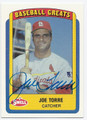 JOE TORRE ST LOUIS CARDINALS AUTOGRAPHED VINTAGE BASEBALL CARD #62716B