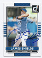 JAMES SHIELDS KANSAS CITY ROYALS AUTOGRAPHED BASEBALL CARD #62816A