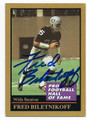FRED BILETNIKOFF OAKLAND RAIDERS AUTOGRAPHED FOOTBALL CARD #62816B