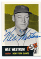 WES WESTRUM NEW YORK GIANTS AUTOGRAPHED BASEBALL CARD #62916E