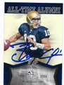 BRADY QUINN NOTRE DAME FIGHTING IRISH AUTOGRAPHED FOOTBALL CARD #63016E