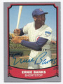 ERNIE BANKS CHICAGO CUBS AUTOGRAPHED BASEBALL CARD #70116E