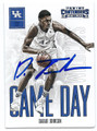 DAKARI JOHNSON UNIVERSITY OF KENTUCKY WILDCATS AUTOGRAPHED ROOKIE BASKETBALL CARD #70216C