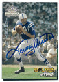 JOHNNY UNITAS BALTIMORE COLTS AUTOGRAPHED FOOTBALL CARD #70416B