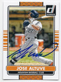 JOSE ALTUVE HOUSTON ASTROS AUTOGRAPHED BASEBALL CARD #70416D