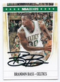 BRANDON BASS BOSTON CELTICS AUTOGRAPHED BASKETBALL CARD #70916A