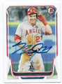 MIKE TROUT LOS ANGELES ANGELS OF ANAHEIM AUTOGRAPHED BASEBALL CARD #71116F
