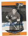 ALEX DELVECCHIO DETROIT RED WINGS AUTOGRAPHED VINTAGE HOCKEY CARD #71216D