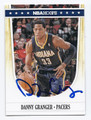 DANNY GRANGER INDIANA PACERS AUTOGRAPHED BASKETBALL CARD #71316E