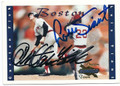 CARLTON FISK & LUIS TIANT BOSTON RED SOX DOUBLE AUTOGRAPHED BASEBALL CARD #71416B