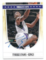TYREKE EVANS SACRAMENTO KINGS AUTOGRAPHED BASKETBALL CARD #71416C