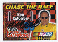 KEN SCHRADER AUTOGRAPHED NASCAR CARD #71416E