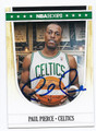 PAUL PIERCE BOSTON CELTICS AUTOGRAPHED BASKETBALL CARD #71816A