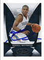 RUSSELL WESTBROOK OKLAHOMA CITY THUNDER AUTOGRAPHED BASKETBALL CARD #71816C