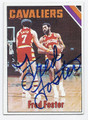FRED FOSTER CLEVELAND CAVALIERS AUTOGRAPHED VINTAGE BASKETBALL CARD #71916B