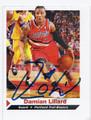 DAMIAN LILLARD PORTLAND TRAIL BLAZERS AUTOGRAPHED ROOKIE BASKETBALL CARD #72016D