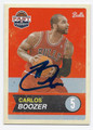 CARLOS BOOZER CHICAGO BULLS AUTOGRAPHED BASKETBALL CARD #72116E