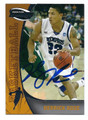 DERRICK ROSE UNIVERSITY OF MEMPHIS WILDCATS AUTOGRAPHED ROOKIE BASKETBALL CARD #72116F