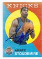 AMAR'E STOUDEMIRE NEW YORK KNICKS AUTOGRAPHED BASKETBALL CARD #72216B