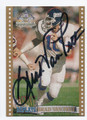 BRAD VAN PELT NEW YORK GIANTS AUTOGRAPHED FOOTBALL CARD #72216E